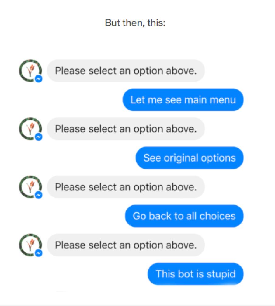 chatbots sometimes fail