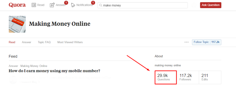 quora is another option for researching the interest in your blog topics.
